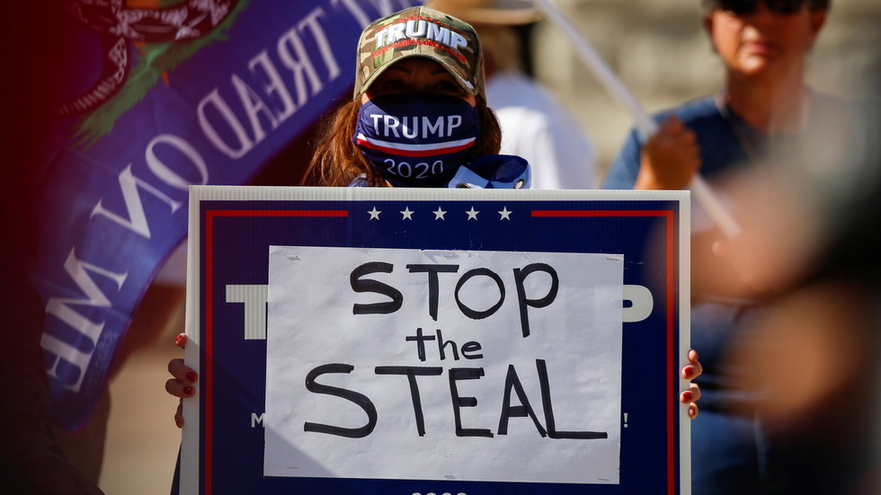 'Stop the steal!' Trump supporters gather at state buildings, calling Biden victory a fraud